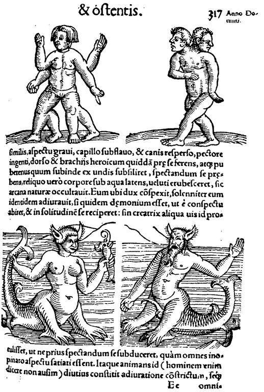 Anatomie, Teratologie der Neuzeit